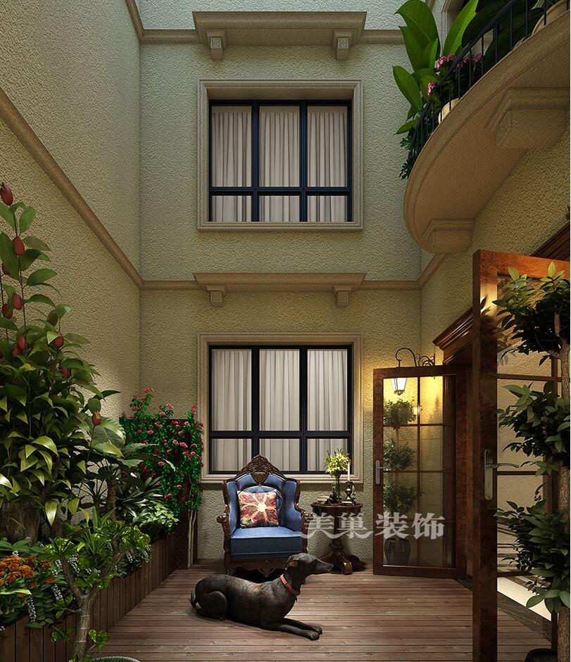 安阳自建别墅430平美式乡村装修效果图,本案是一套建筑面积430平方的复式结构,由于客户居住需要,整体定位现代美式,以白色定制家具,拼花大理石地砖,暖咖色墙漆,蓝色调色为组成部分,灯光的橙色与软装的蓝色产生撞色凸显层次,护墙板的运用使奢华效果与越层的大气假相呼应。空间中的透气性是本案的最大特色。 安阳自建别墅430平美式乡村装修案例客厅效果图  安阳自建别墅430平美式乡村装修案例餐厅效果图  安阳自建别墅430平美式乡村装修案例麻将房效果图  安阳自建别墅430平美式乡村装修案例书房效果图
